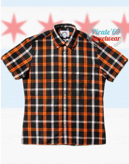 Brutus GreatFit Orange Tartan Shirt