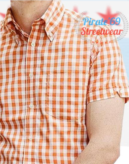 Brutus Orange Trimfit Shirt