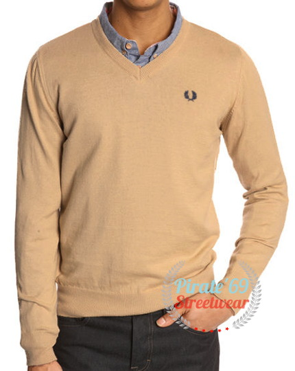 Fred Perry v-neck knit sweater