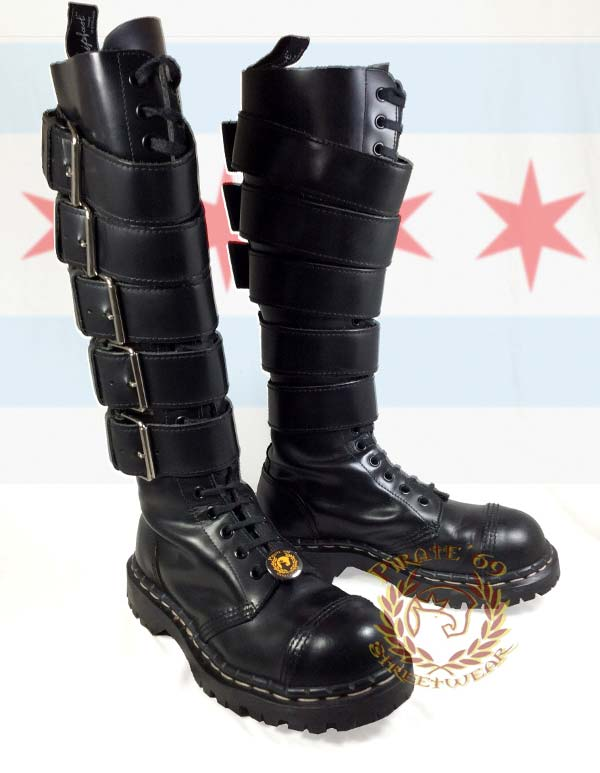 Gripfast Knee High Goth/Punk Buckle