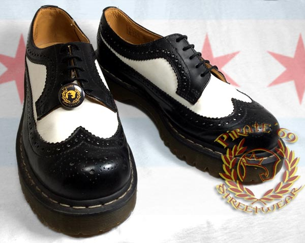 Dr Martens Rudeboy Black and White wingtips