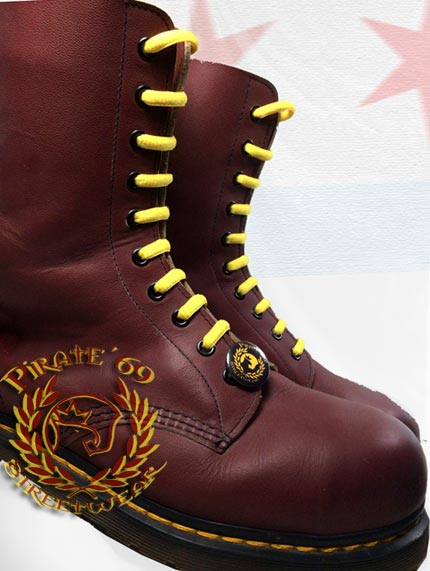 Skinhead yellow boot laces for Dr Martens