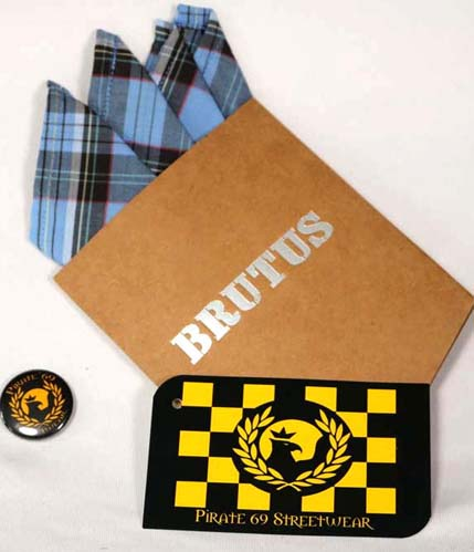 Brutus Palace Blue Checks Shirt handkerchief