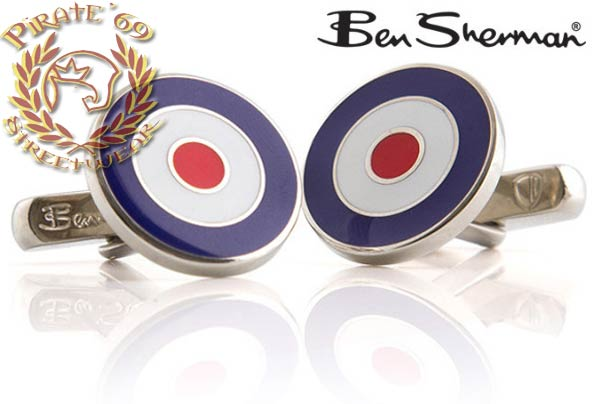 Ben Sherman Stylish and Unique Mod Sixties Target Cufflinks