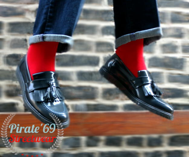 Mod / Rude / Skinhead Mens Red Socks