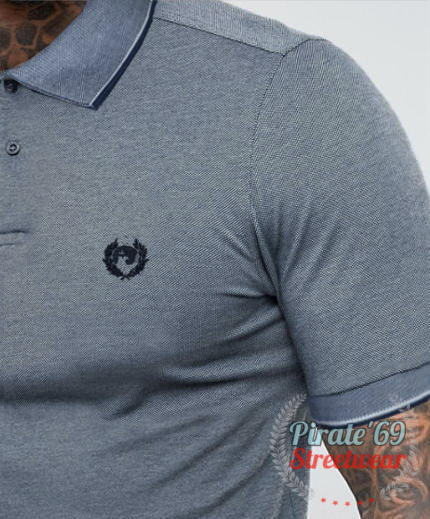 SALE Pirate 69 Hawk Wreath Skinhead Twin Tipped Polo Shirt