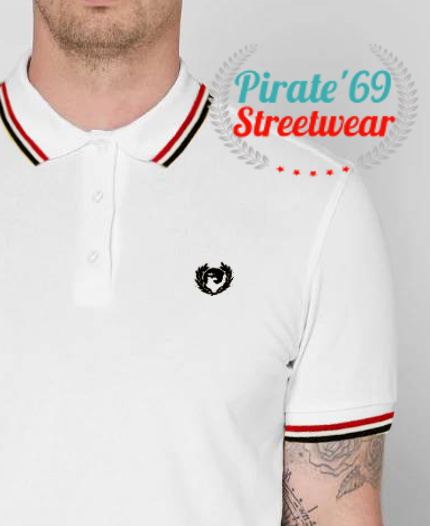 NEW SUMMER STOCK Pirate 69 Hawk Wreath Skinhead Twin Tipped Polo