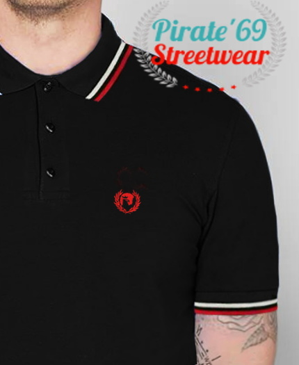 NEW SUMMER STOCK Pirate 69 Hawk Wreath Skinhead Twin Tipped Polo Shirt
