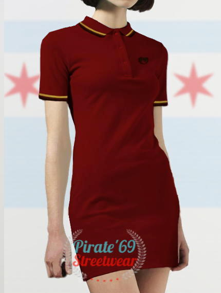 Mod Skinhead Women Polo Dress Twin Tipped