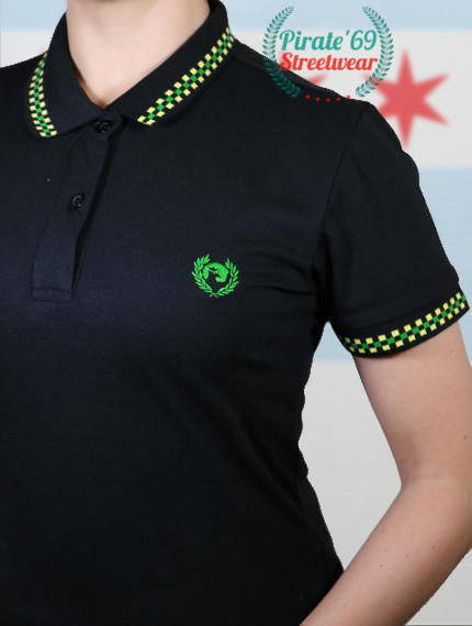 Jamaica Ska Skinhead Girl Twin Tipped Polo Shirt