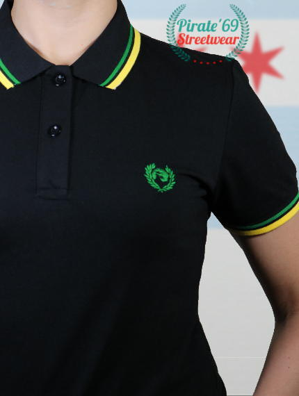 Jamaica Reggae Skinhead Girl Twin Tipped Polo Shirt