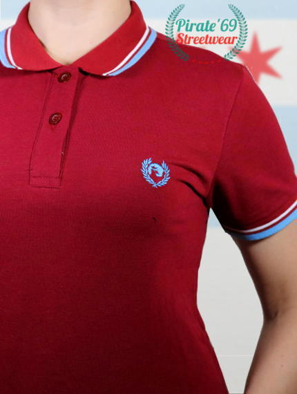 Pirate 69 Twin Trim SkinGirl Polo Shirt