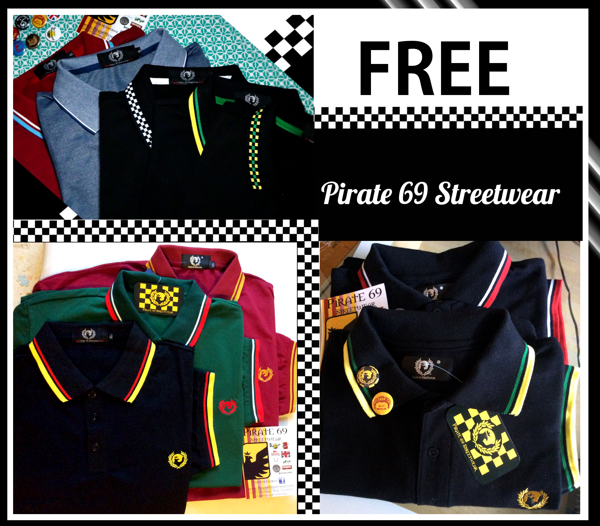 FREE FRED PERRY STYLE POLO SHIRT
