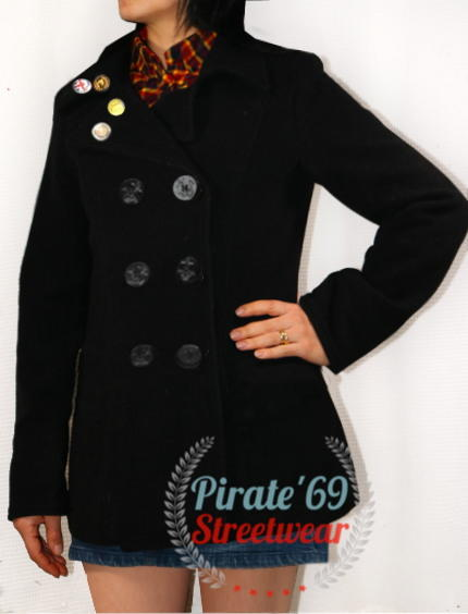 Womens Genuine Naval Double Breasted Peacoat