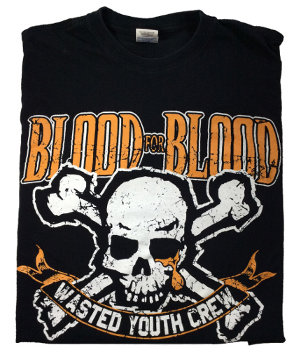 Blood for Blood Wasted Youth Crew camiseta concierto,