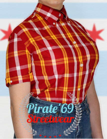 Brutus Skinhead Womens Shirt Brick Red Deadstock