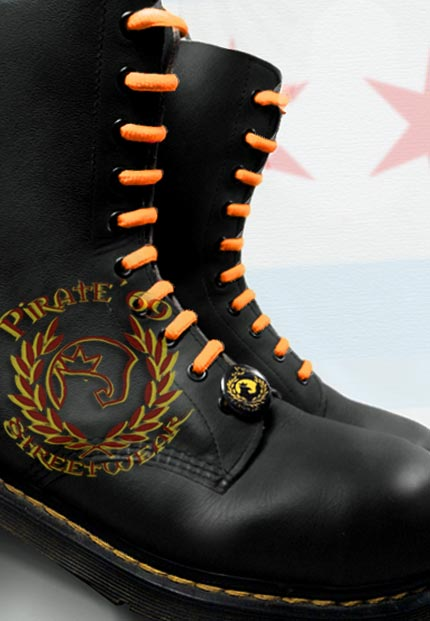 Skinhead orange boot laces for Dr Martens