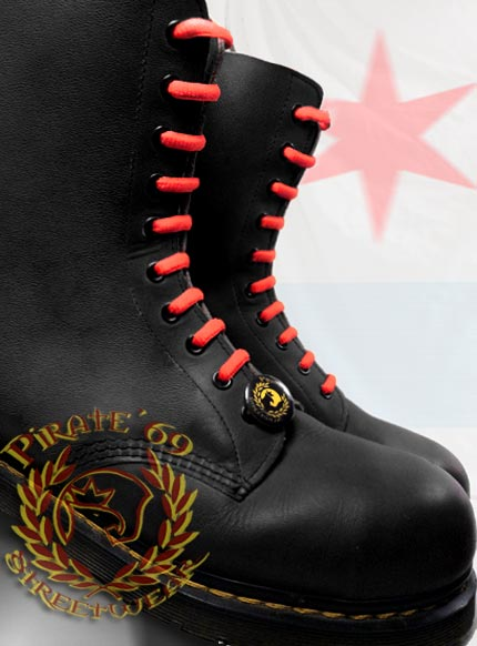 Skinhead red boot laces for Dr Martens