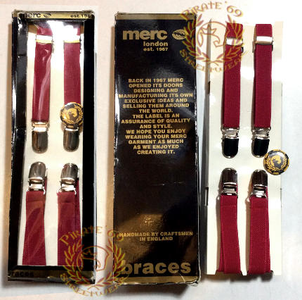 MERC 1/2 inch narrow mod braces supenders