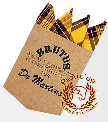 Brutus Dr Martens yellow tartan handkerchief