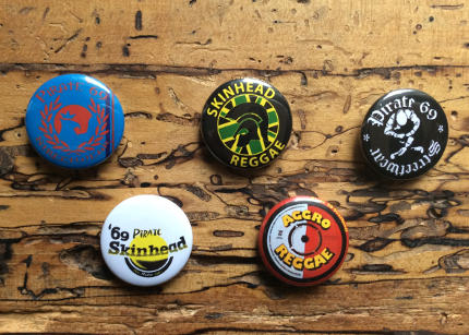 Vespa scooter skinhead mod pin badge buttons