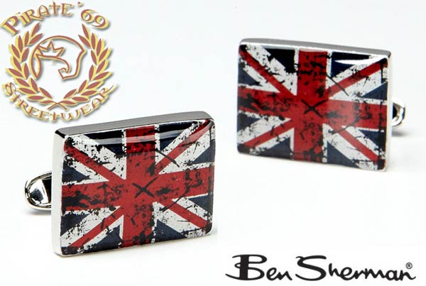 Ben Sherman Stylish and Unique Mod Sixties Union Jack Cufflinks