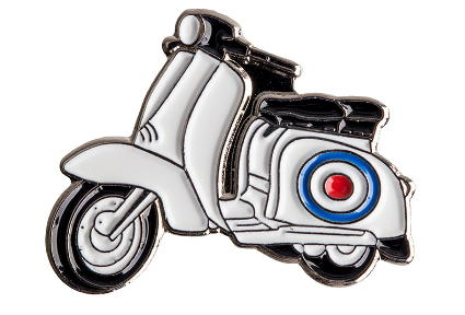 Lambretta scooter skinhead mod pin badge buttons