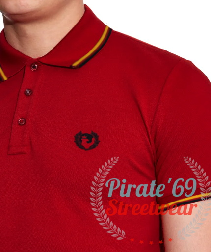 NEW STOCK Pirate 69 Hawk Wreath Twin Tipped Polo Shirt