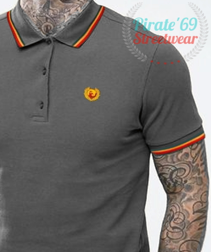 LIMITED EDITION Pirate 69 Skinhead Twin Tipped Polo